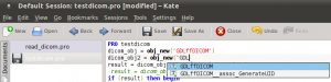 Kate Editor with GDL file