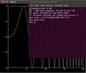 GDL Code Example Plot