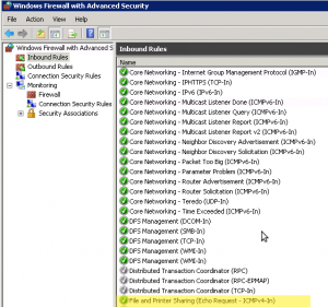 Windows 2008 Firewall Allow Pings