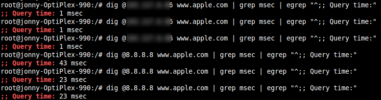 Dig Response Times for apple.com
