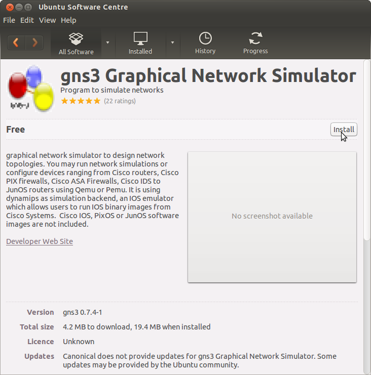 Cisco Router Emulation with GNS3 » Red Branch