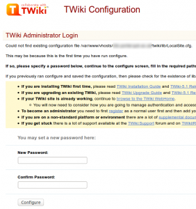 Twiki Configuration
