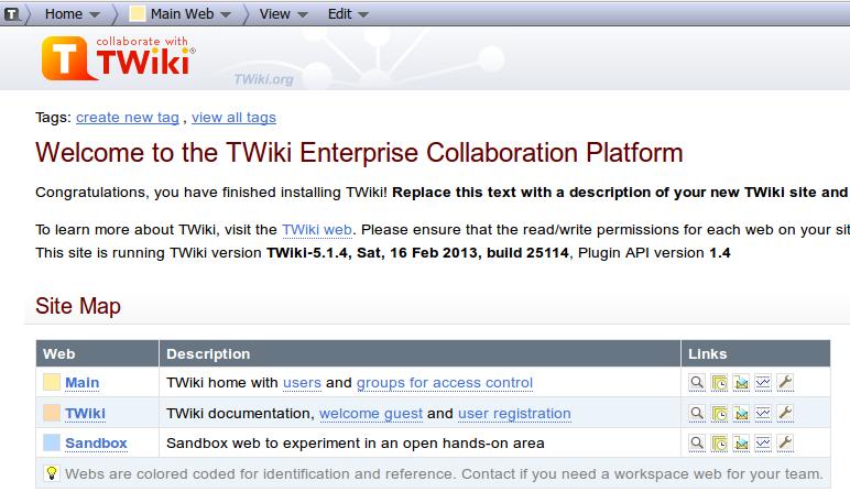 Twiki Installation