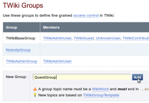 Twiki New User Group