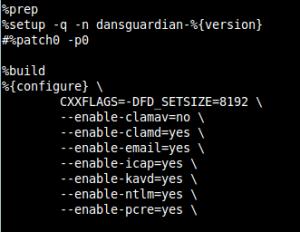 Dansguardian Compilation Configuration