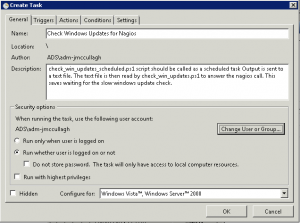 Windows 2008 Scheduled Task