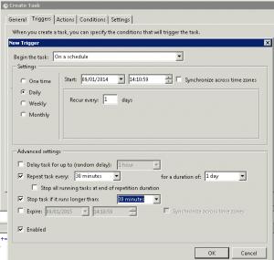 Windows 2008 Scheduled Task