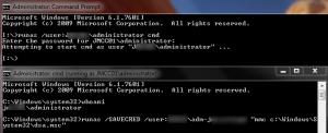 Windows runas command