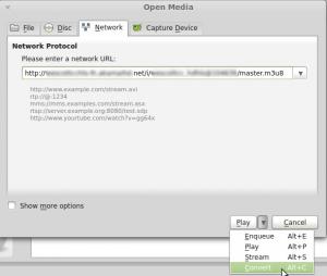 VLC Save STream
